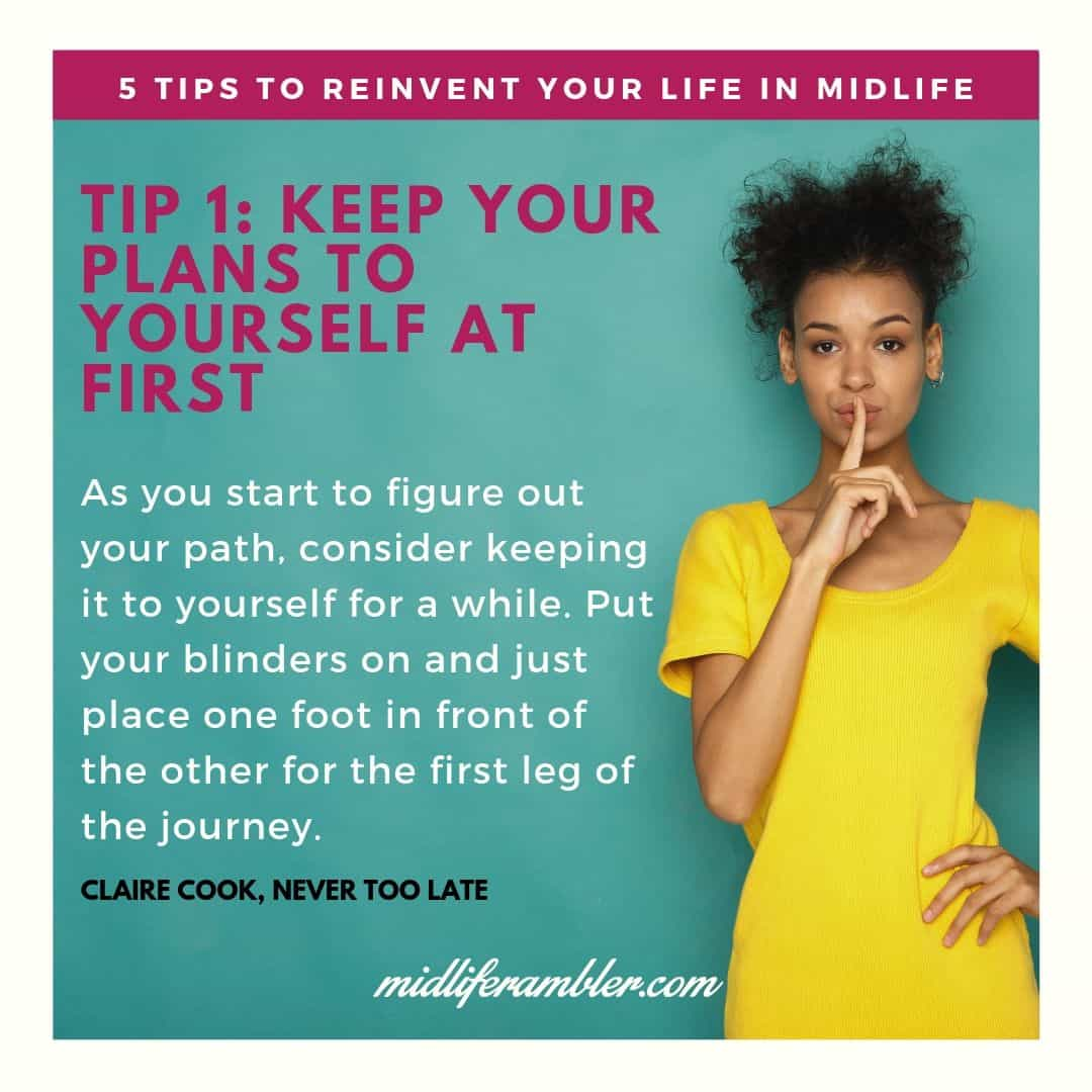 Five Tips to Reinvent Your Life in Midlife 2