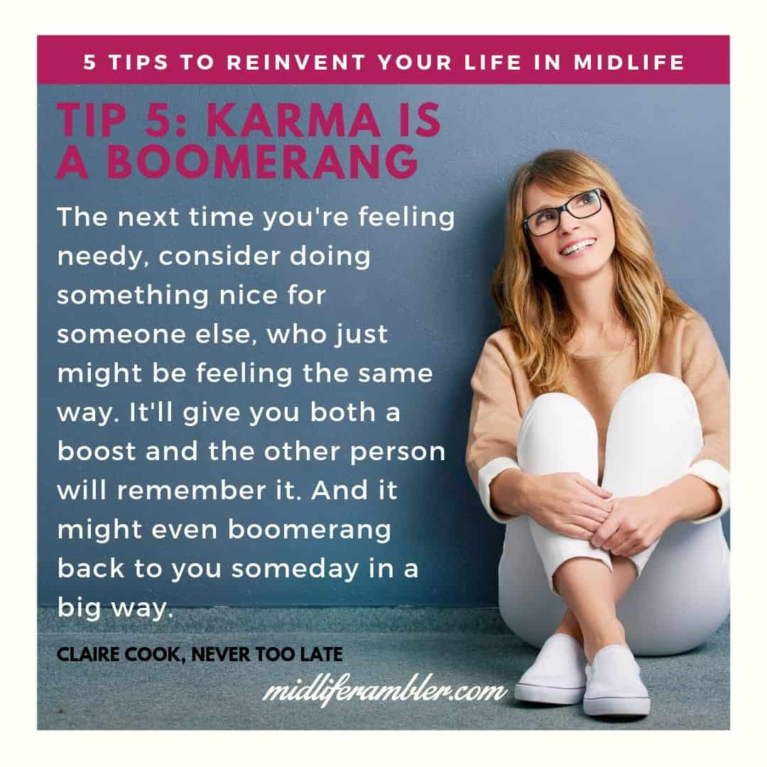 Five Tips to Reinvent Your Life in Midlife 10