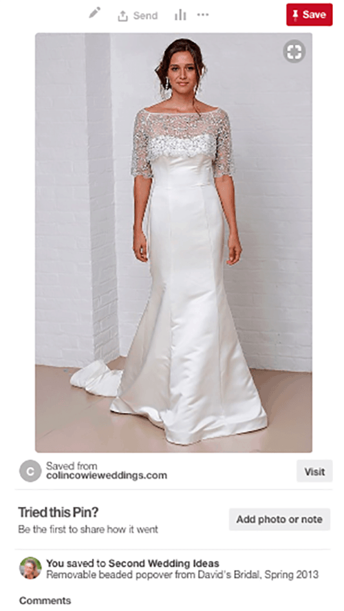 The perfect second wedding dress
