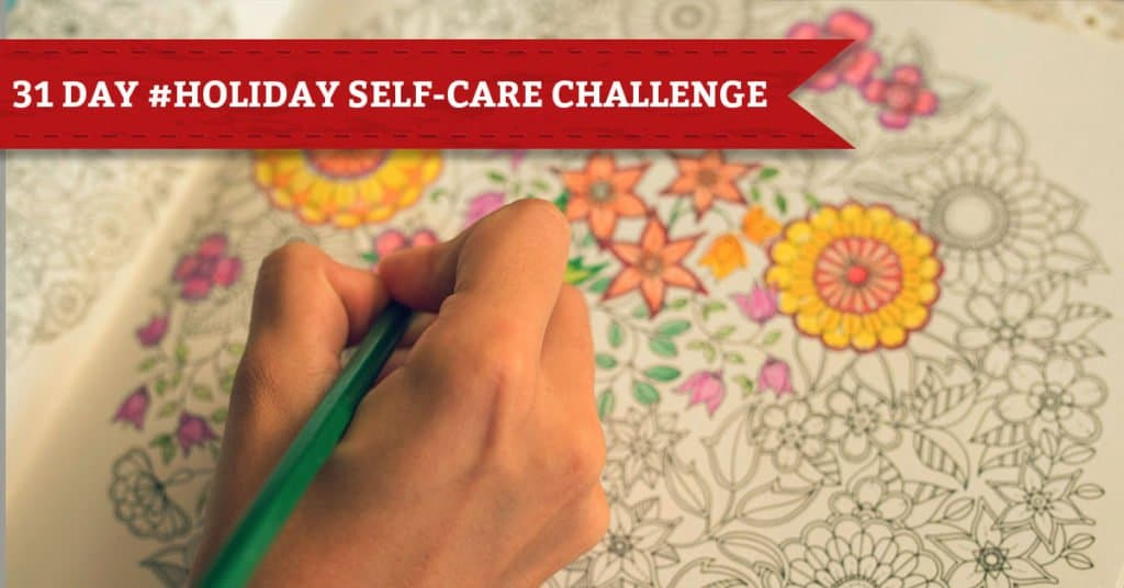 31 Days of Holiday Self-Care, Day 8, Spend Some Time Coloring
