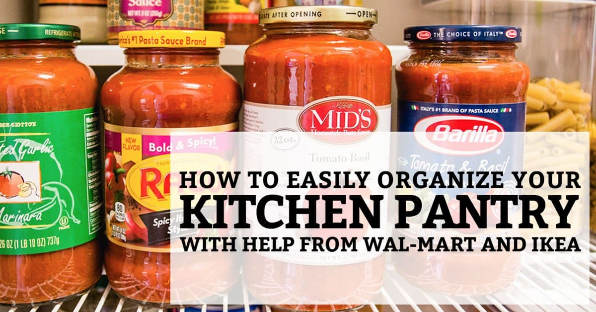 My kitchen pantry organization with help from ikea and wal mart