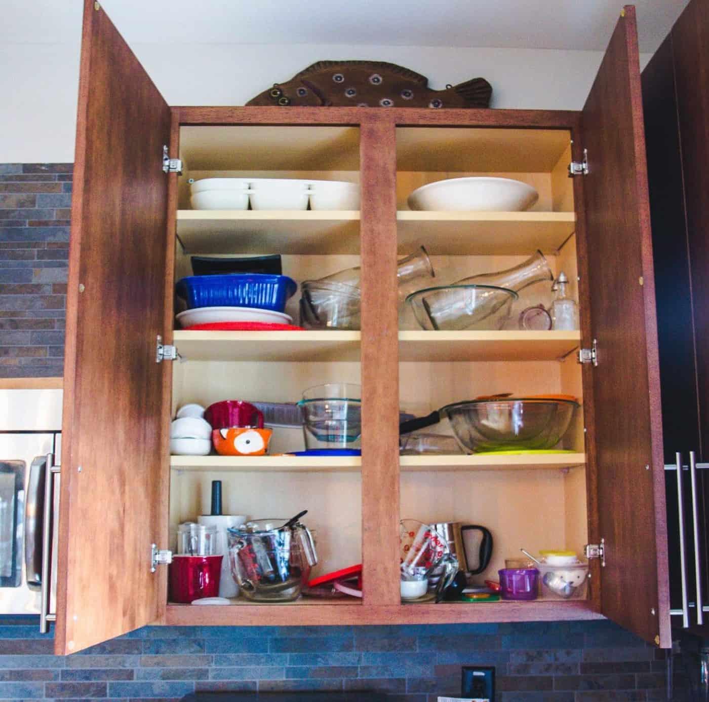 A Sneak Peek into My KonMari Kitchen Cabinet Reorganization 2