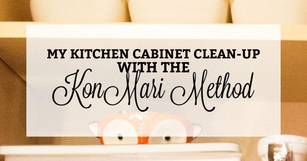 A Sneak Peek into My KonMari Kitchen Cabinet Reorganization