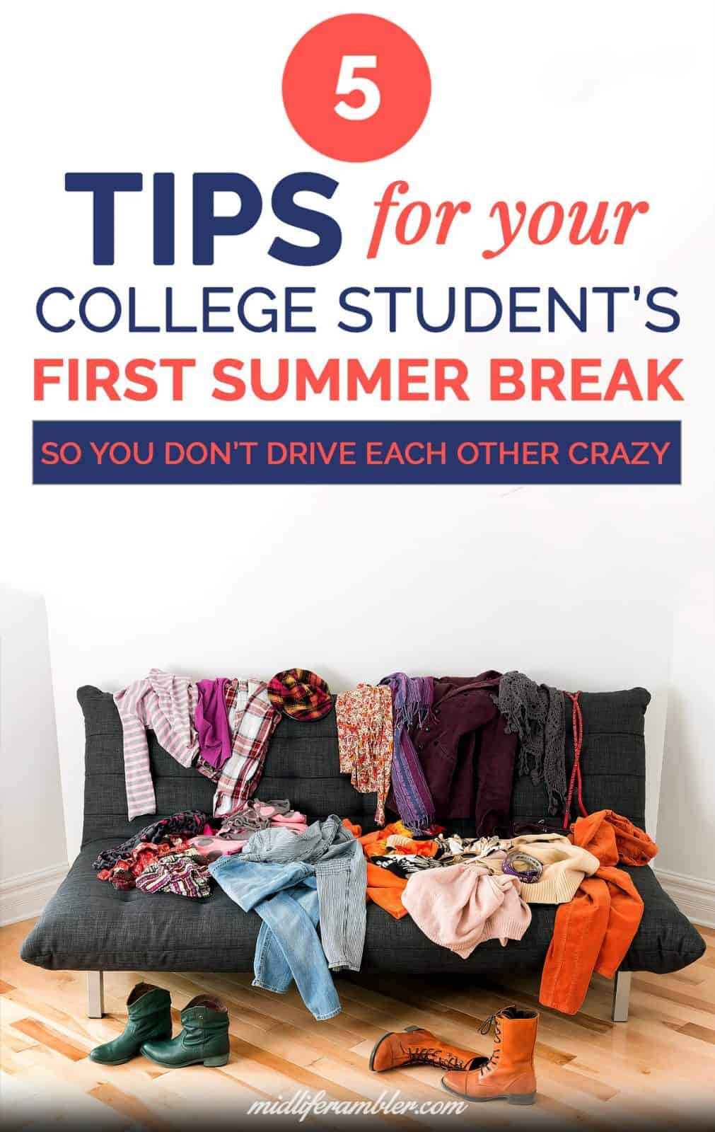 5 Tips for Your College Student's First Summer Break 2