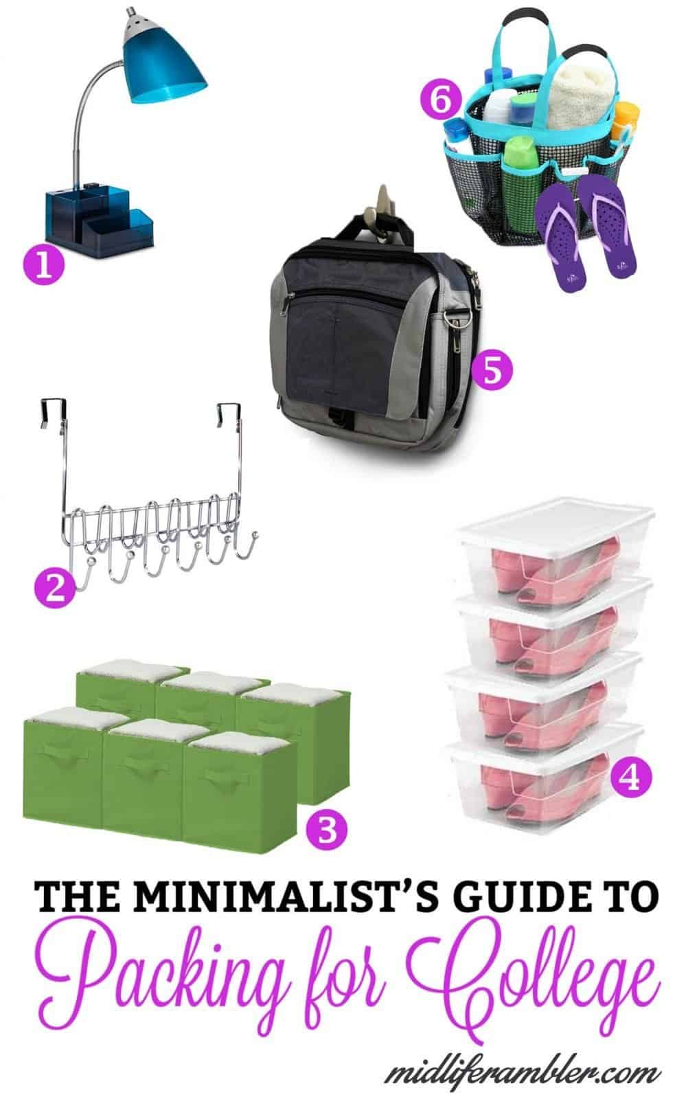 It's so hard to know what to buy for college and so easy to overbuy. I recently interviewed my daughter to find out what items she actually found helpful in keeping her dorm room organized during this past year. Here's a quick list of the products she found most helpful.