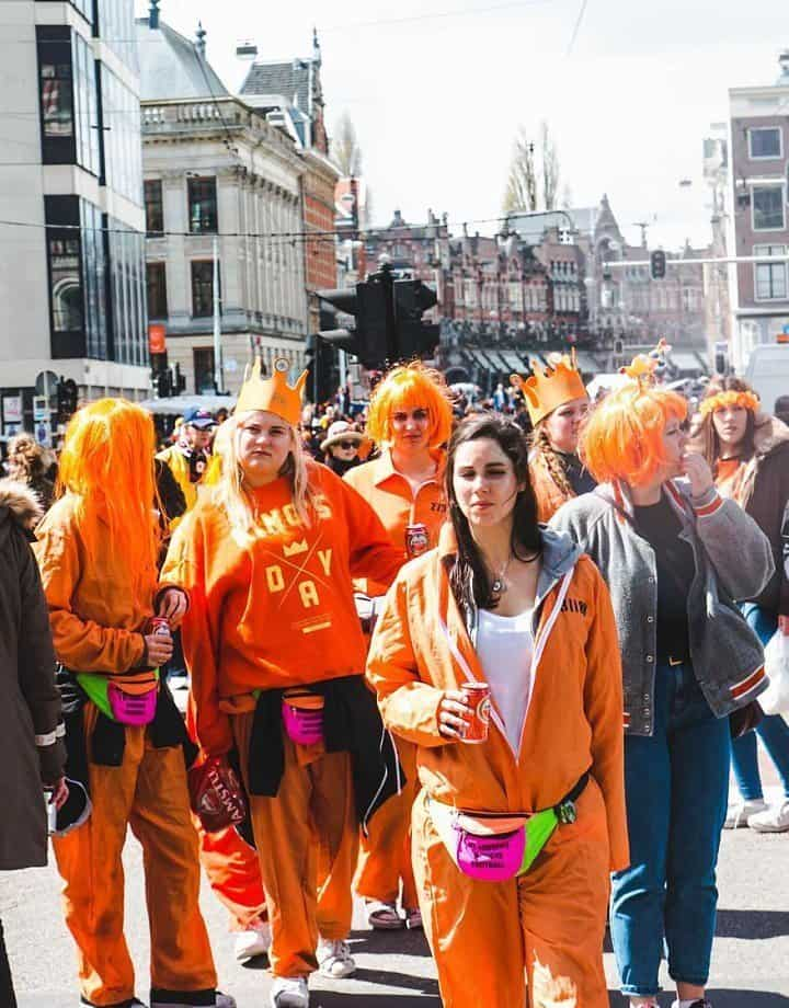 Orange is the New Black on King's Day in Amsterdam