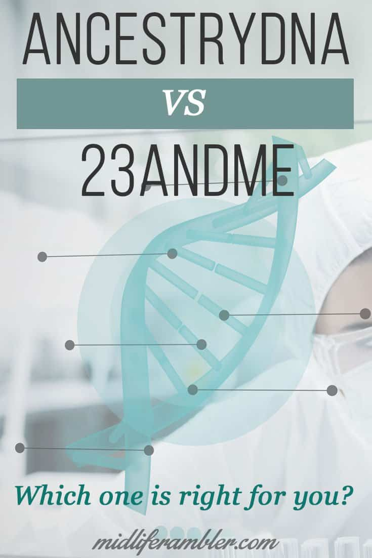 23andMe vs AncestryDNA. This is a great overview of the pros and cons of each test and which one you might want to take. Tells you how to get the best price too!