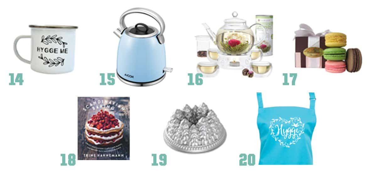 Some great gifts to bring a little hygge to those you love this holiday season - here are some to cozy up tea time.