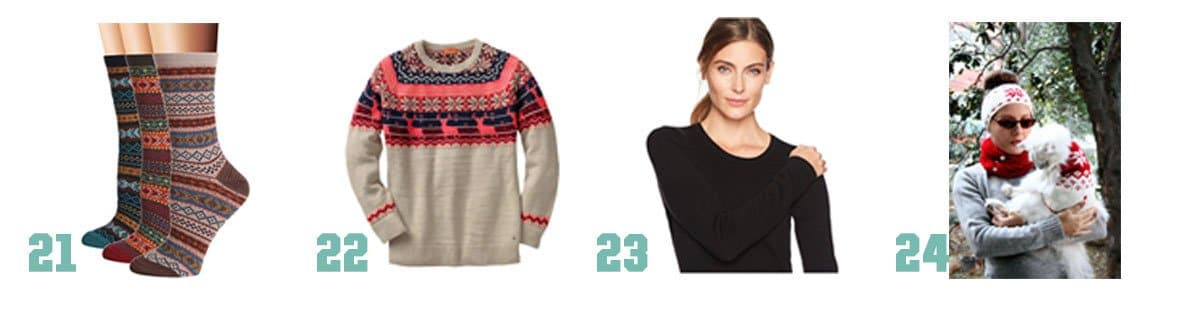 Some great gifts to bring a little hygge to those you love this holiday season - here are some to wear.