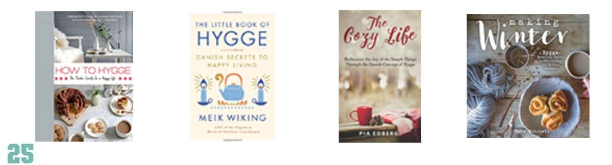 Some great gifts to bring a little hygge to those you love this holiday season - here are some hygge books everyone will love.