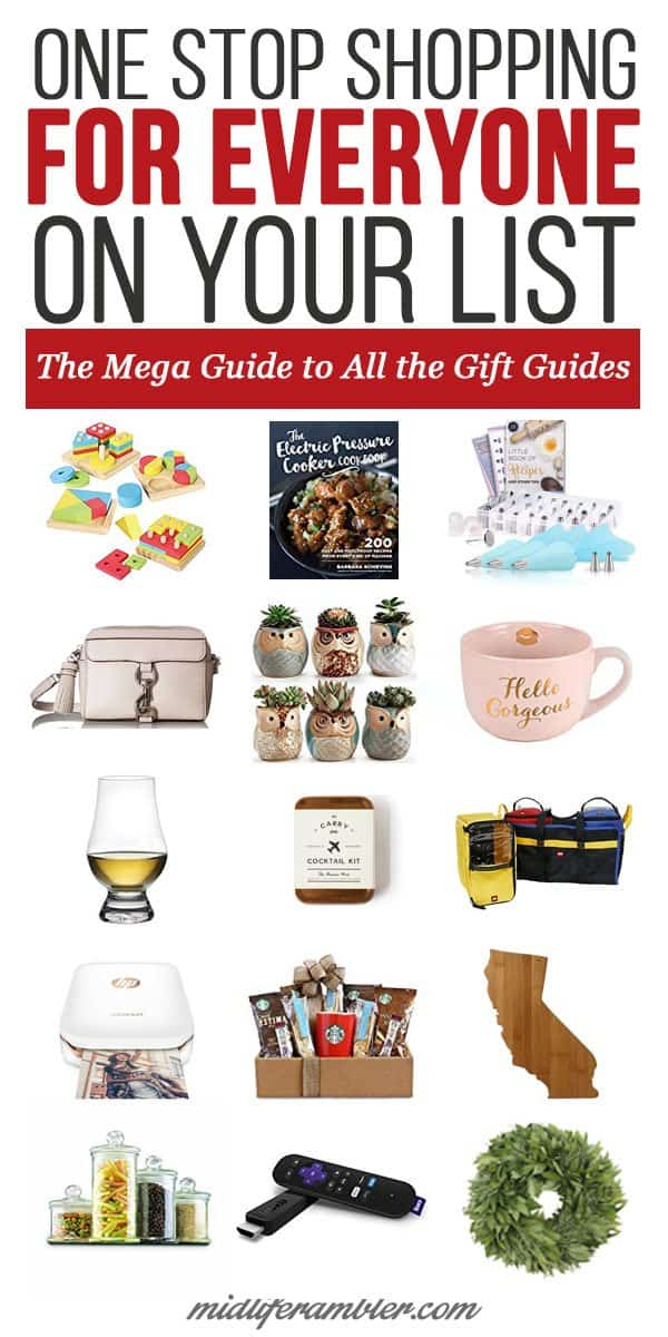 It's so easy to shop online these days, but it can still be difficult to find just the right gift for your loved ones. That's why I just love all the Gift Guides that come out this time of year. I've compiled a list of all the best gift guides for your 2017 Christmas shopping. You'll be sure to find the perfect gift here.