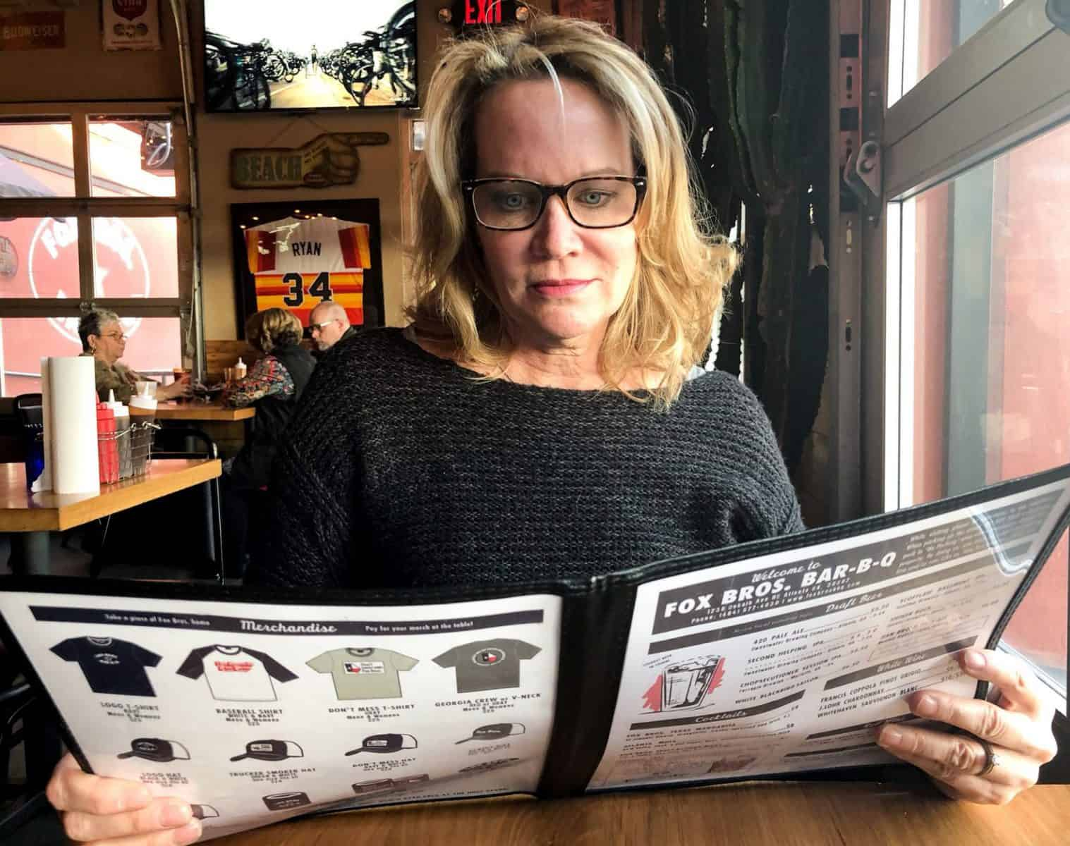 Reading a Menu Becomes Harder as You Get Older