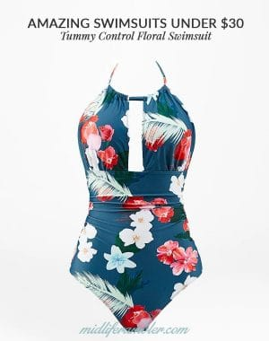 Tummy Control Floral Swimsuit