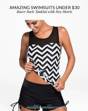 Racer Back Tankini with Boy Shorts