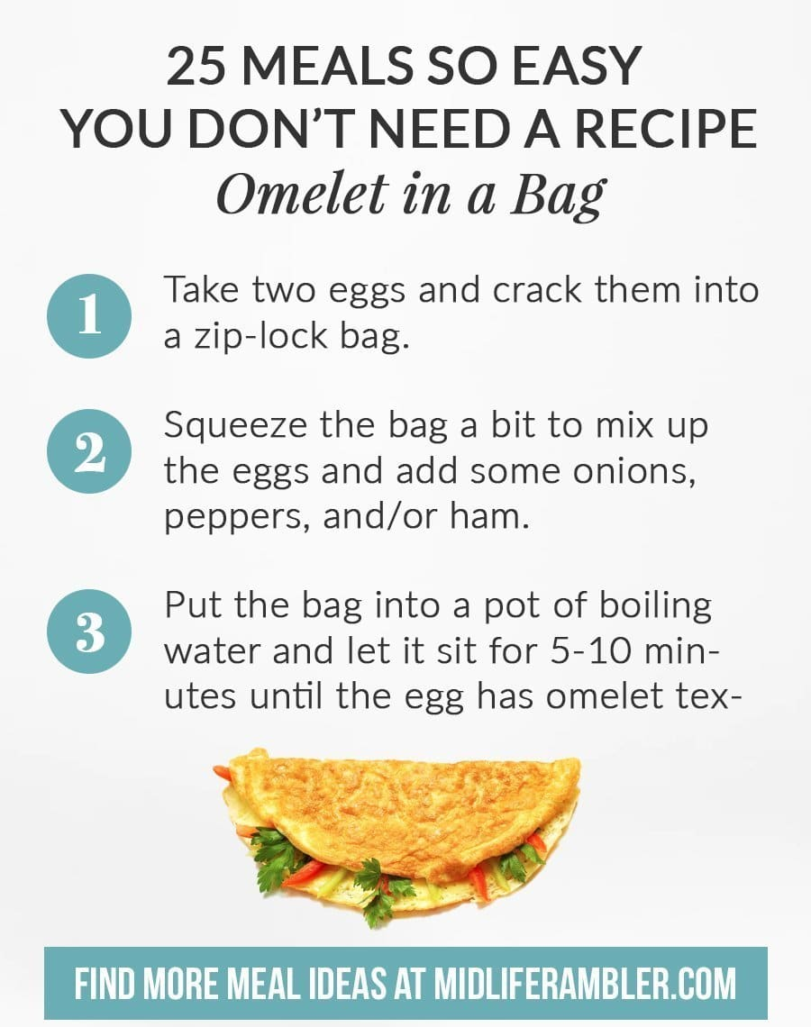 Easy Meals for College Students - Omelet in a Bag
