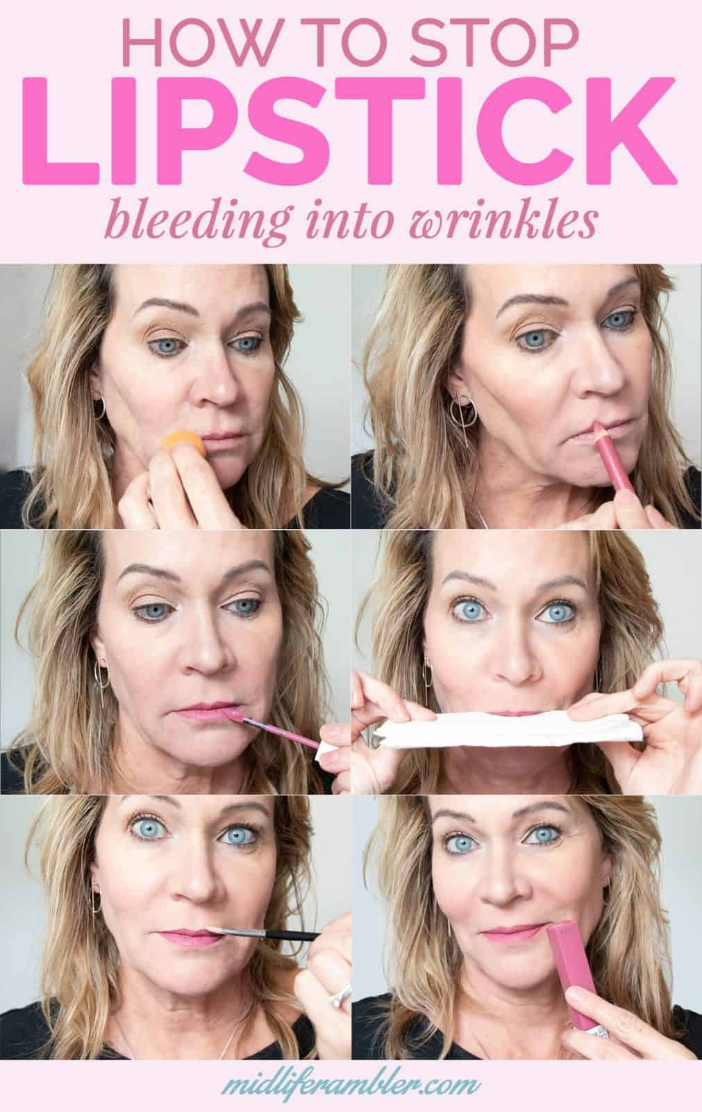 How to Stop Lipstick Bleeding into Lip Wrinkles and Smoker's Lines 21