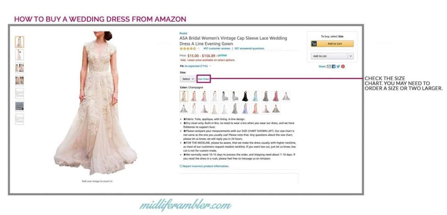 20 Wedding Dresses Perfect for the Over 40 Bride That You Can Get from Amazon 8