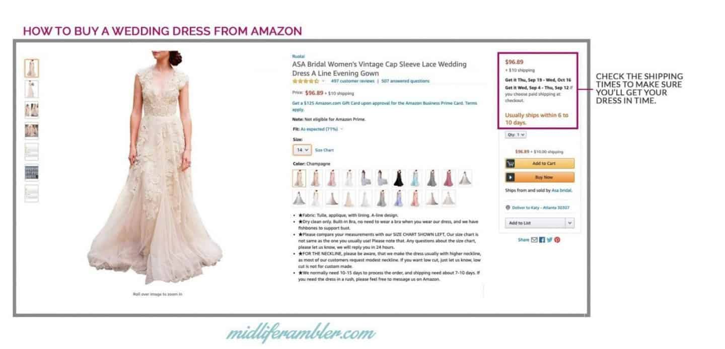 20 Wedding Dresses Perfect for the Over 40 Bride That You Can Get from Amazon 12