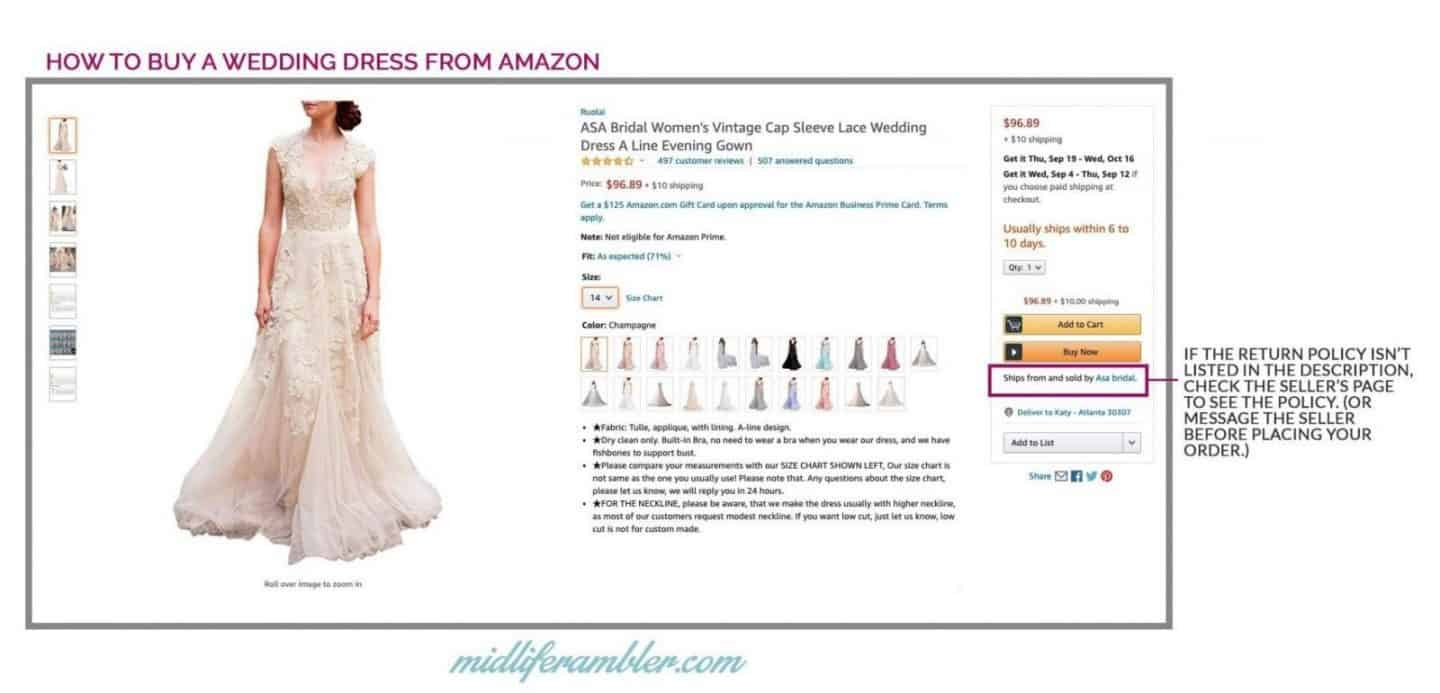 20 Wedding Dresses Perfect for the Over 40 Bride That You Can Get from Amazon 14