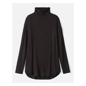 Daily Ritual Women's Jersey Long-Sleeve Funnel-Neck Shirt