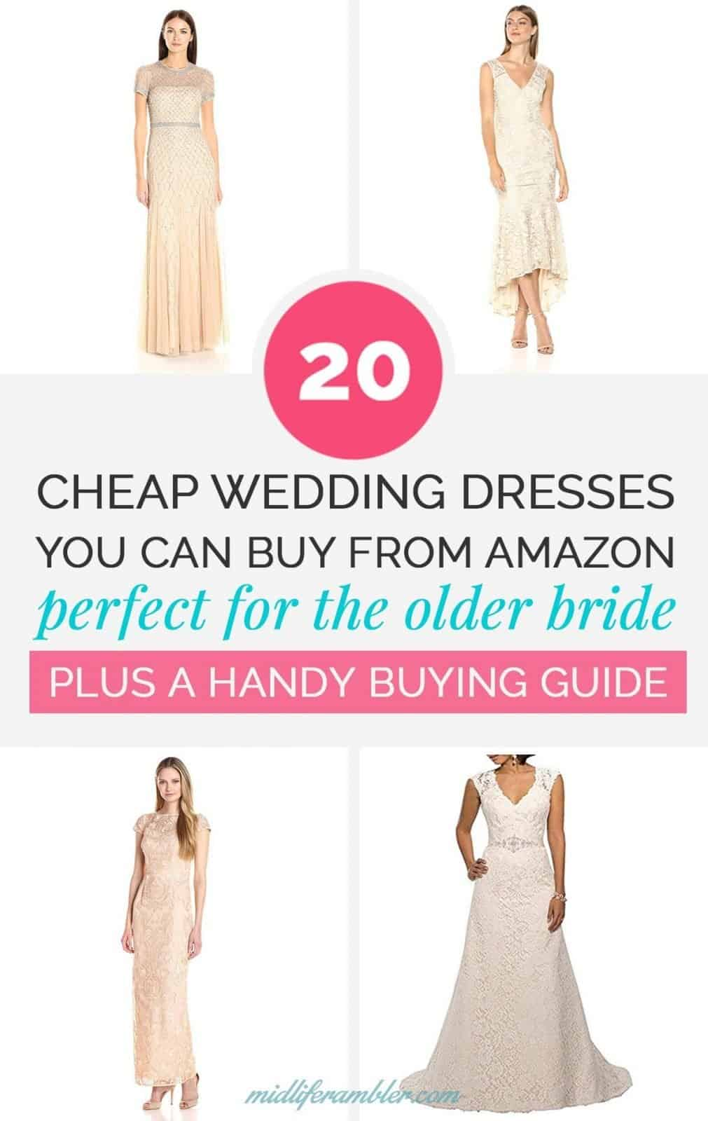 20 Wedding Dresses Perfect for the Over 40 Bride That You Can Get from Amazon 18