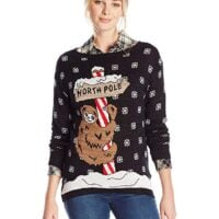 Isabella's Closet Women's North Pole Sloth Ugly Christmas Sweater