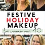 Festive Holiday Makeup Look for Women over 40 1