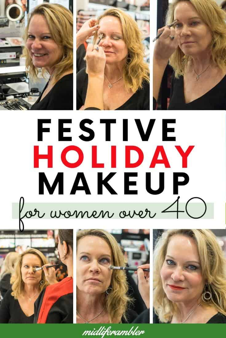Festive Holiday Makeup Look for Women over 40 2