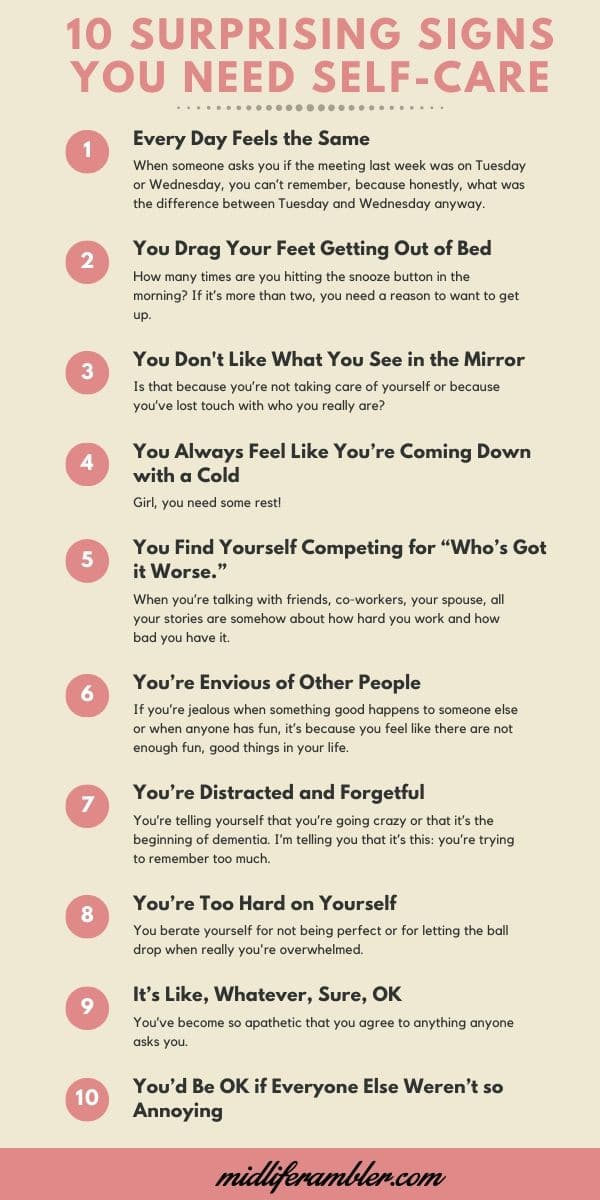 Ten Surprising Signs You Need Self-Care 3