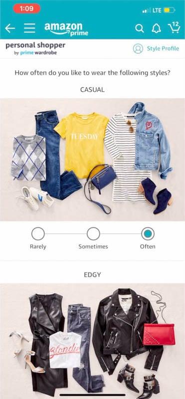 Amazon Personal Shopper Style Quiz