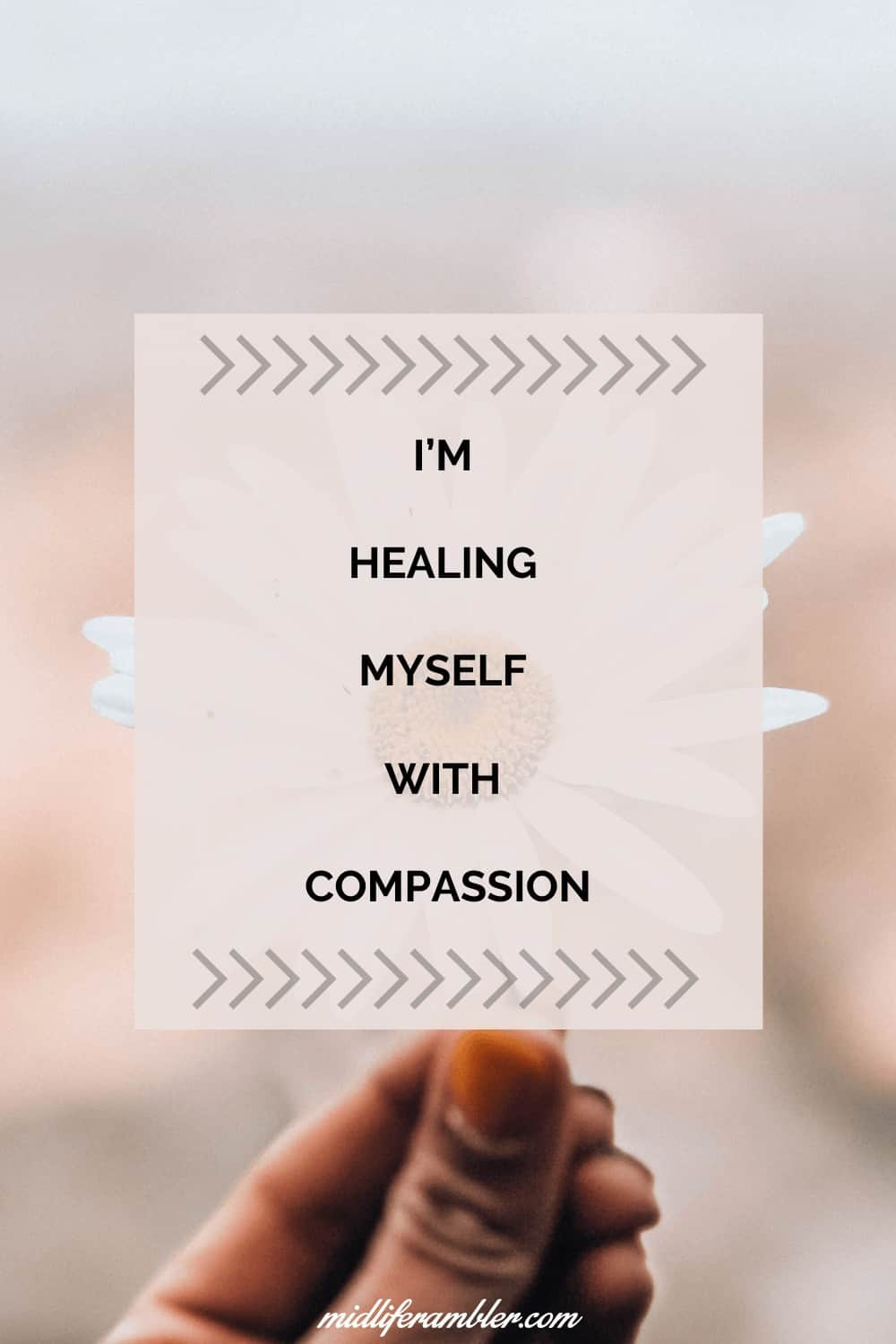 Affirmations for Self-Compassion - I'm healing myself with compassion.
