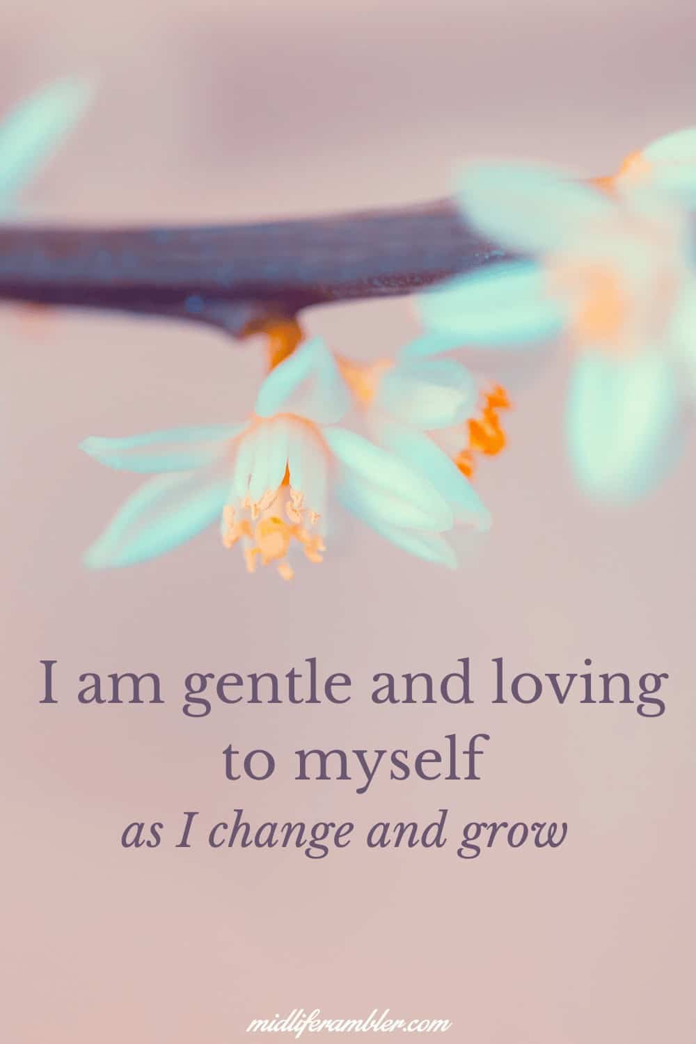 Affirmations for Self-Compassion - I am gentle and loving with myself as I change and grow.