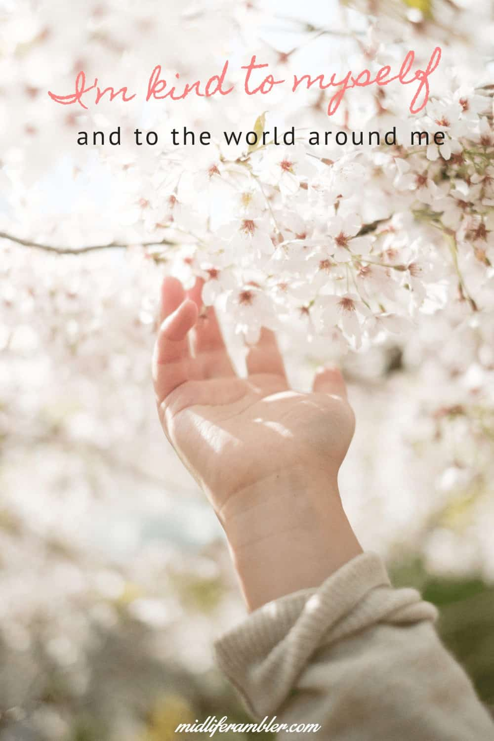 Affirmations for Self-Compassion - I'm kind to myself and to the world around me.