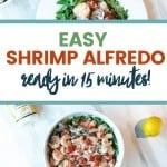 Easy Weeknight Dinner: Trader Joe's Argentinian Red Shrimp with Trader Joe's Limone Alfredo Sauce 1