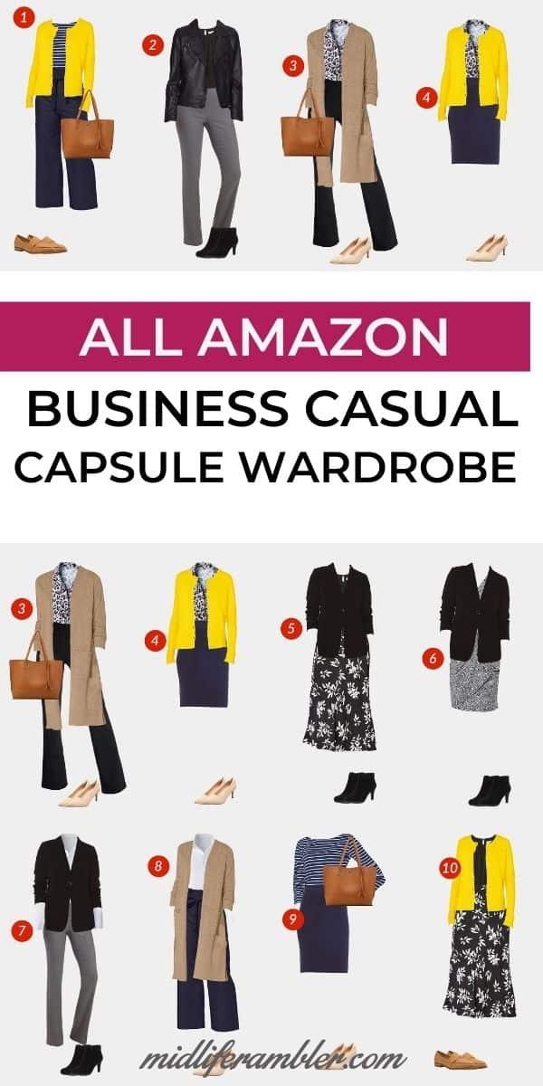 18 Piece Business Casual Amazon Capsule Wardrobe 8