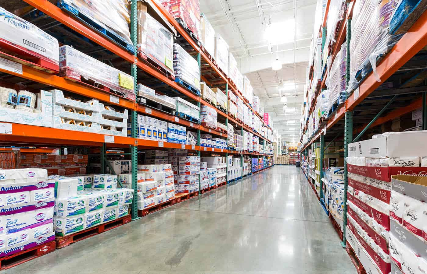 Inside of a warehouse club