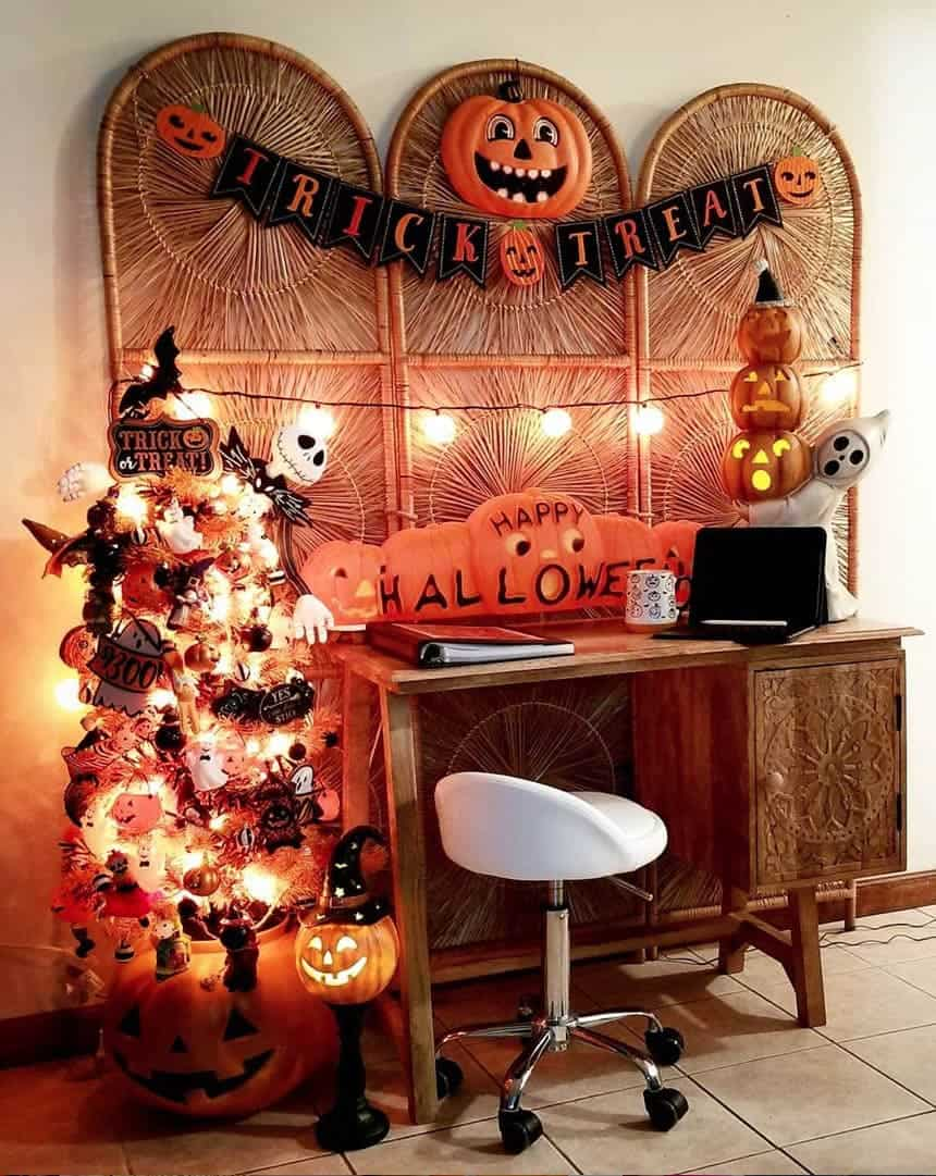 Small and Full Halloween Tree