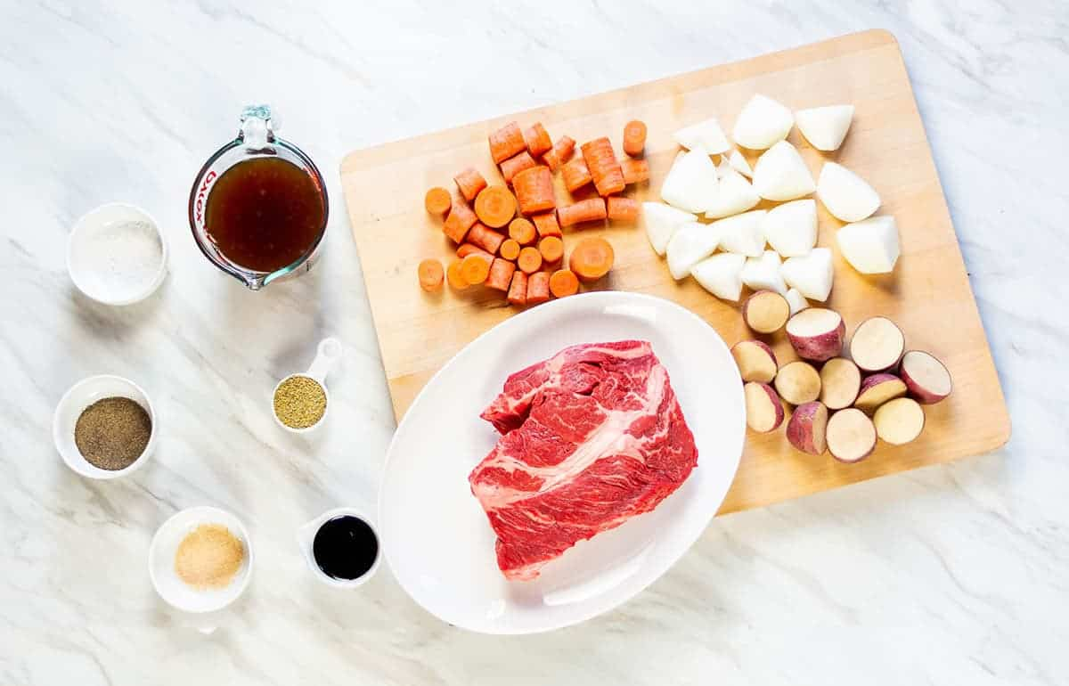 Ingredients for Slow Cooker Pot Roast for Two