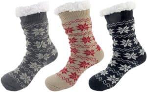 Plush Fleece-lined Fur Cuff Knitted Crew Socks