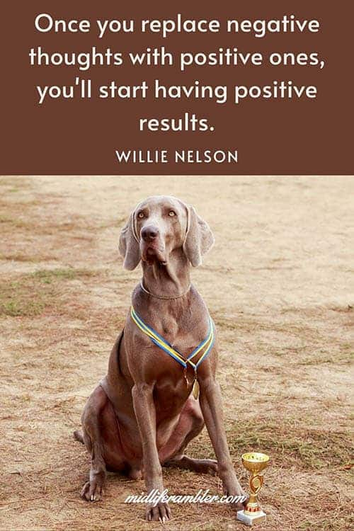 Once you replace negative thoughts with positive ones, you'll start having positive results - Willie Nelson quote