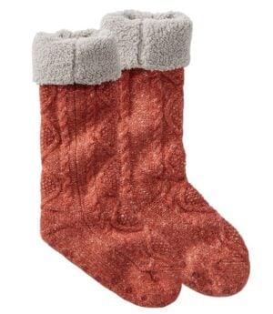 L.L. Bean Women's Fireside Gripper Socks