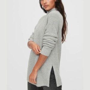 Mockneck Tunic Sweater