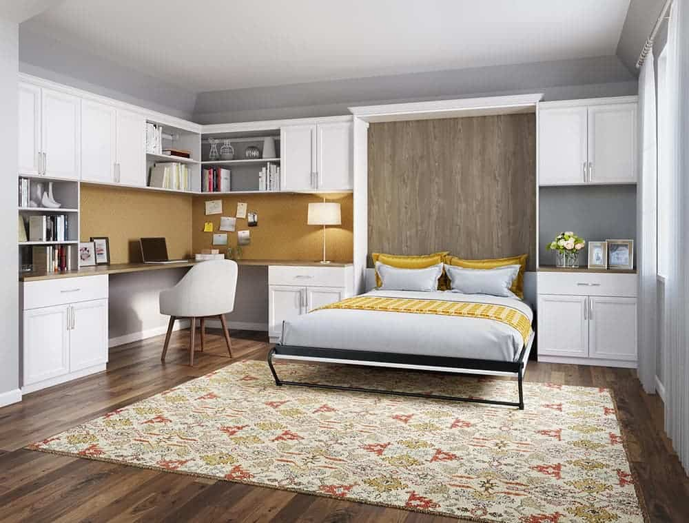Murphy bed with custom cabinets