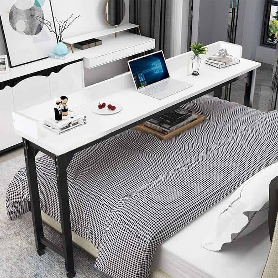 Rolling Table that fits over the bed