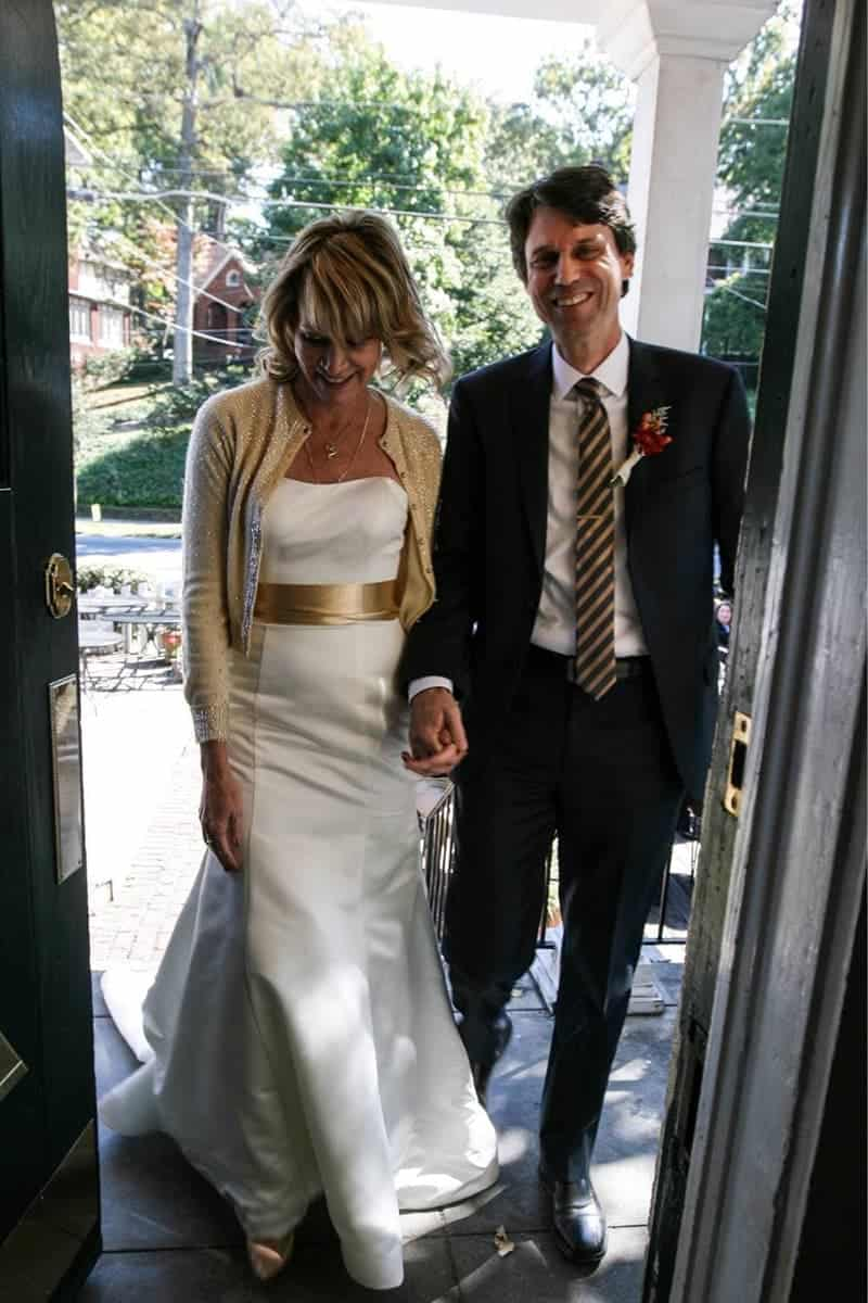 Getting married in a long white dress