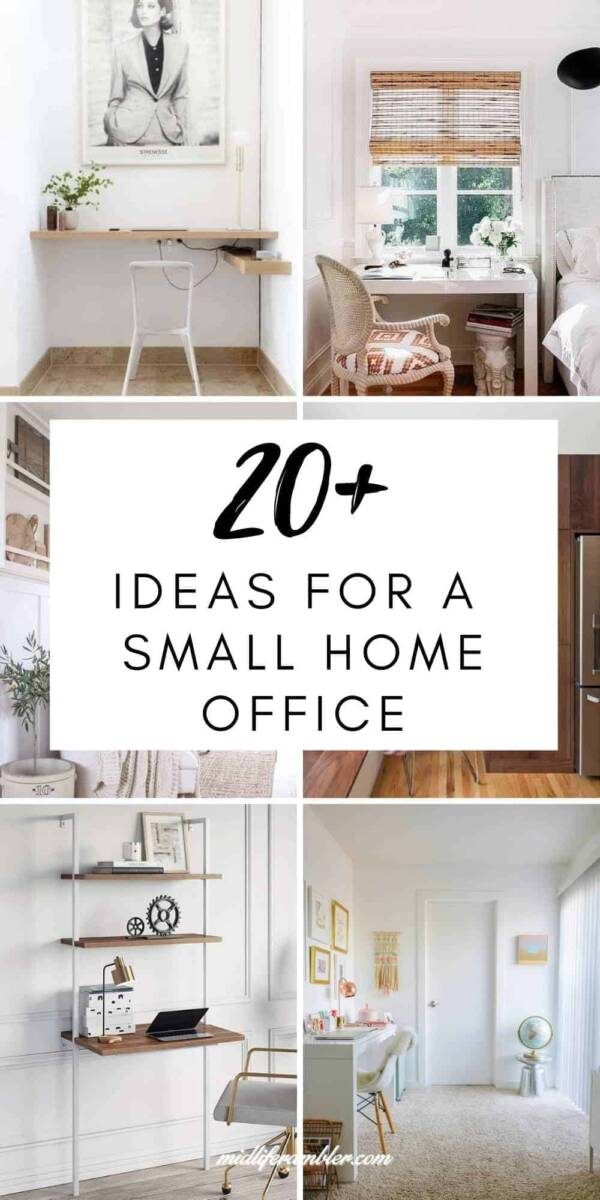 small home office ideas collage